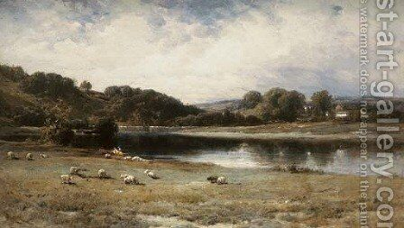 The Pond's Outlet by James David Smillie - Reproduction Oil Painting