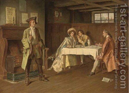 The new arrival by James de Vine Aylward - Reproduction Oil Painting