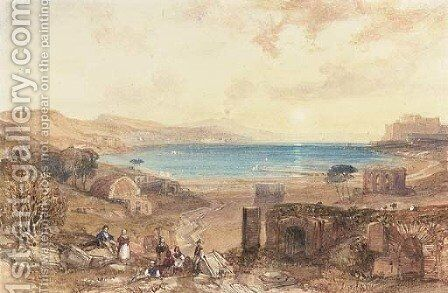 The Bay of Baia, Naples by James Duffield Harding - Reproduction Oil Painting