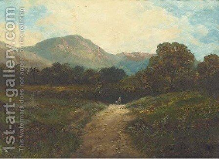 On the Barmouth road; and Old lock, near Chiddingfold by James E. Adams - Reproduction Oil Painting