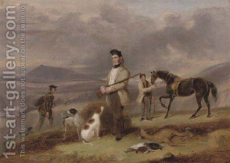 Mr Grant shooting near Rothes, on the Spey by James Forbes - Reproduction Oil Painting
