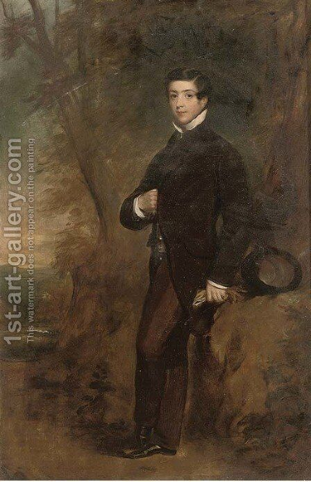 Portrait of Thomas Edward Fairfax by James Godsell Middleton - Reproduction Oil Painting