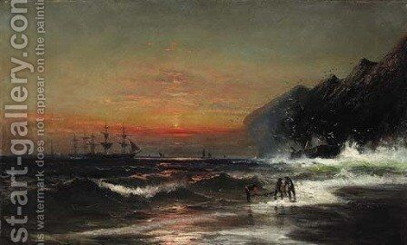 Dragging the Nets by James Hamilton - Reproduction Oil Painting