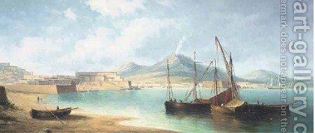The bay of Naples by James Hardy Jnr - Reproduction Oil Painting