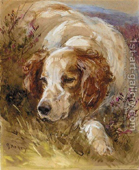 A setter by James Hardy Jnr - Reproduction Oil Painting