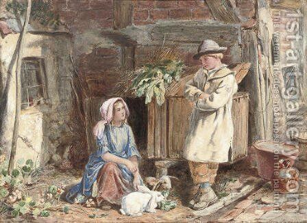 The rabbit hutch by James Hardy Jnr - Reproduction Oil Painting