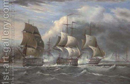 A spirited action by James Hardy Jnr - Reproduction Oil Painting