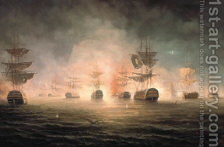 The Bombardment of Algiers, 1816 by James Hardy Jnr - Reproduction Oil Painting