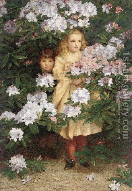 Hide and seek by James Hayllar - Reproduction Oil Painting