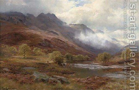 In the Trossachs by James Henry Crossland - Reproduction Oil Painting