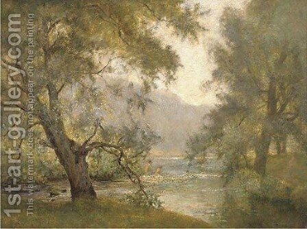 Morning in the meadows by James Herbert Snell - Reproduction Oil Painting