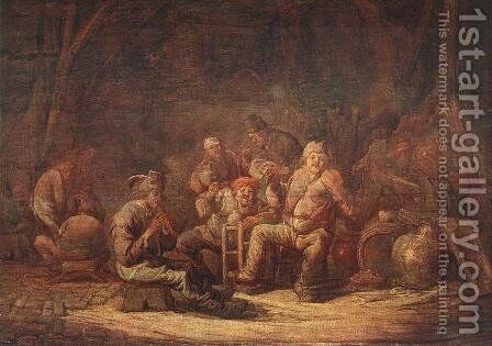 Peasants in the Tavern by Benjamin Gerritsz. Cuyp - Reproduction Oil Painting