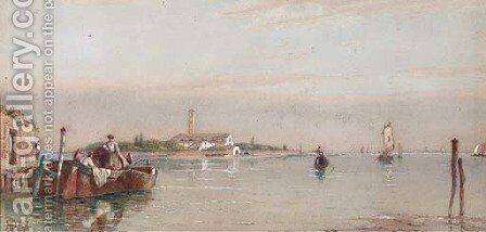 On the Lagoon, Venice by James Herve D'Egville - Reproduction Oil Painting