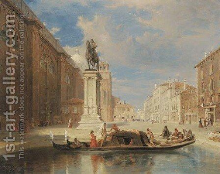 The Colleoni Monument, Venice by James Holland - Reproduction Oil Painting
