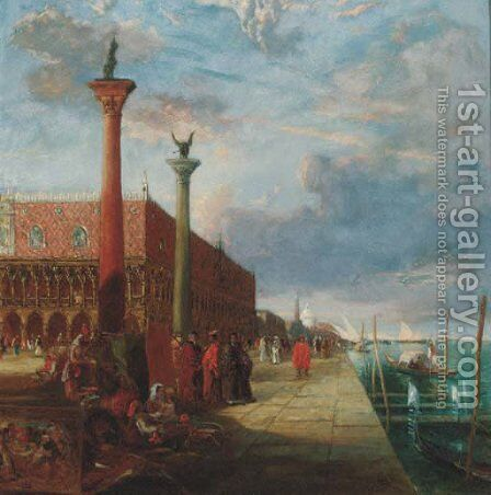 The Doge's Palace, Venice by James Holland - Reproduction Oil Painting