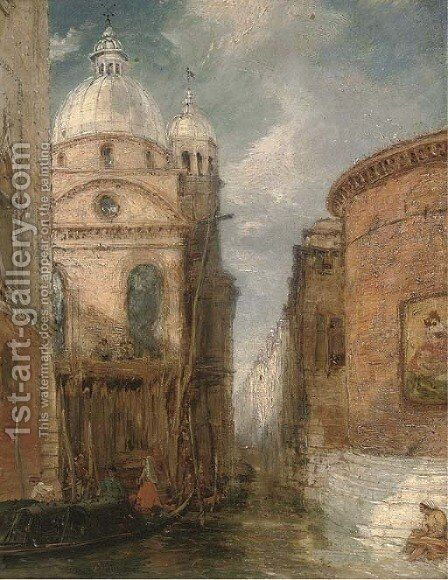 A Venetian backwater by James Holland - Reproduction Oil Painting