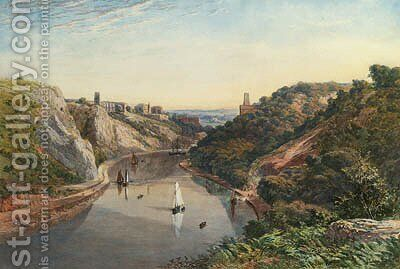 Clifton Gorge, Avon by James Jackson Curnock - Reproduction Oil Painting