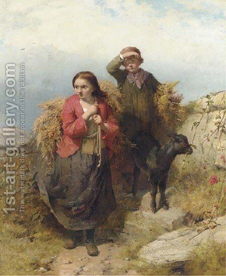 The Fern Gatherers by James John Hill - Reproduction Oil Painting