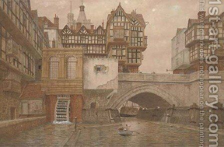 Old London Bridge by James Lawson Stewart - Reproduction Oil Painting