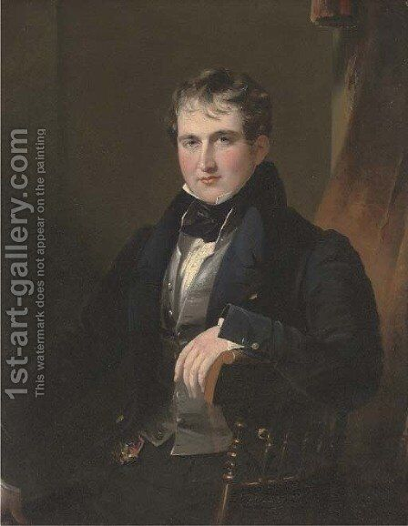 Portrait of Sir James Worseley Taylor by James Lonsdale - Reproduction Oil Painting