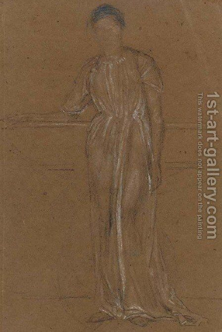 Draped Figure, Standing by James Abbott McNeill Whistler - Reproduction Oil Painting