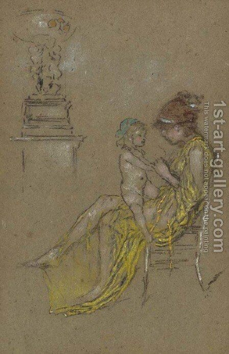 Mother and Child by James Abbott McNeill Whistler - Reproduction Oil Painting