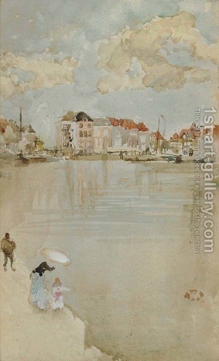 Note in Rose and Silver--Dordrecht by James Abbott McNeill Whistler - Reproduction Oil Painting