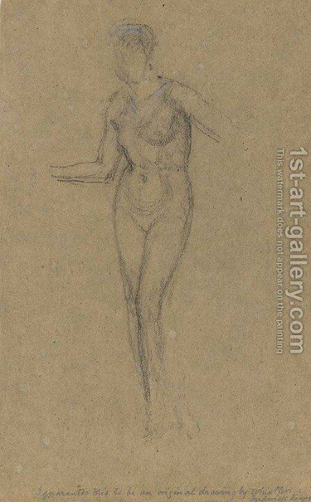 Nude Standing by James Abbott McNeill Whistler - Reproduction Oil Painting