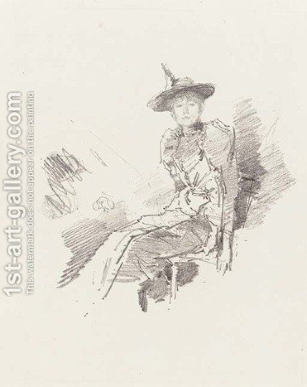 The Winged Hat by James Abbott McNeill Whistler - Reproduction Oil Painting