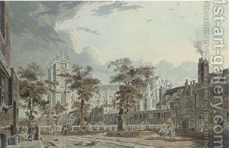 View of Dean's Yard, Westminster, London by James Miller - Reproduction Oil Painting