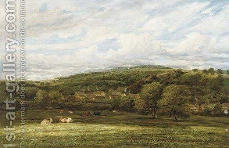 Cattle resting in a wooded valley by James Orrock - Reproduction Oil Painting