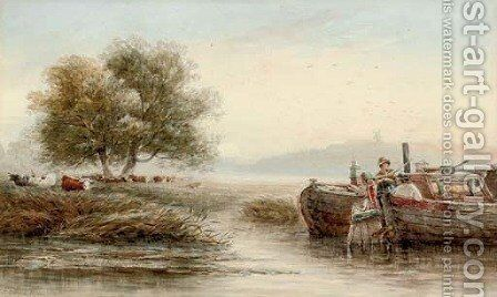 On the Trent below Nottingham by James Orrock - Reproduction Oil Painting