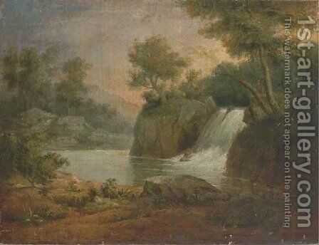 Landscape with Waterfall by James Snr Peale - Reproduction Oil Painting
