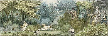 Pheasant Shooting by James Pollard - Reproduction Oil Painting