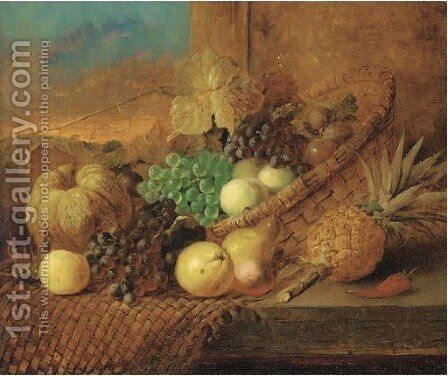 Fruits by James Poulton - Reproduction Oil Painting