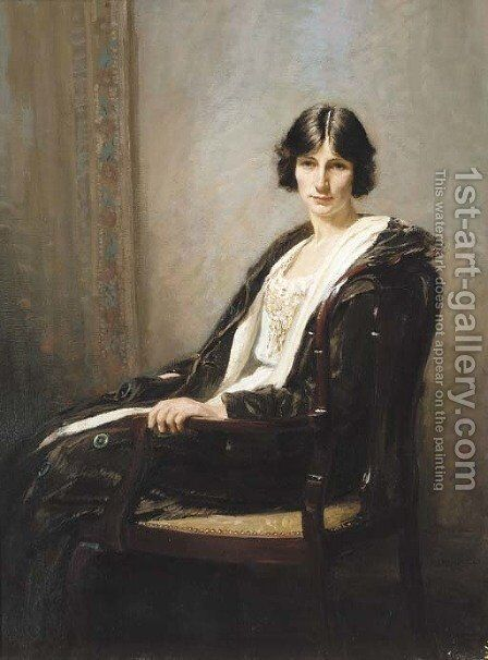 Portrait of a lady by James Riddel - Reproduction Oil Painting
