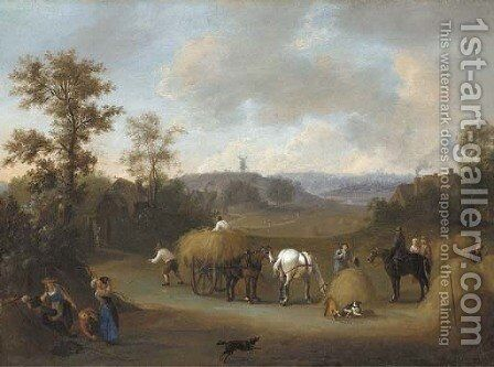 Haymaking by James Ross - Reproduction Oil Painting