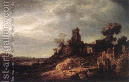 Landscape 1637 by Govert Teunisz. Flinck - Reproduction Oil Painting