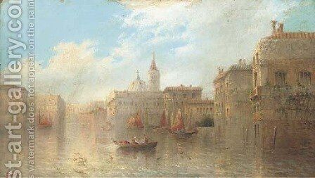 A Venetian backwater by James Salt - Reproduction Oil Painting