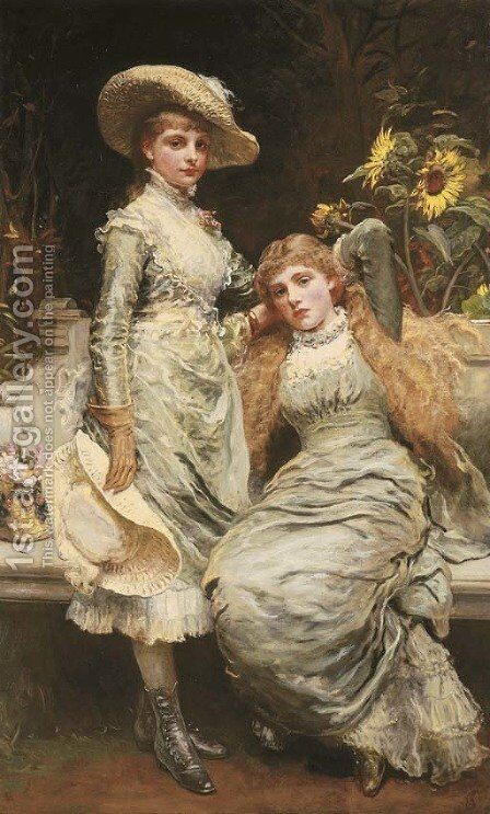 Portrait of the Misses Wilson of Tranby Croft by James Sant - Reproduction Oil Painting