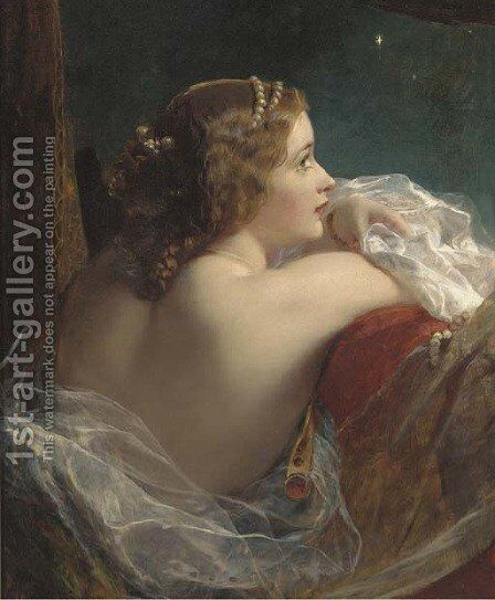 The moonlit beauty by James Sant - Reproduction Oil Painting