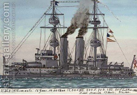 H.M.S. Albermarle (illustrated) by James Scott Maxwell - Reproduction Oil Painting