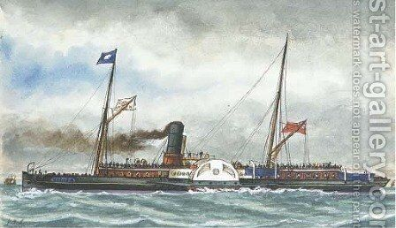 London and Ramsgate steamer Hobken (illustrated) by James Scott Maxwell - Reproduction Oil Painting