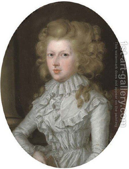 Portrait of a lady by James Scouler - Reproduction Oil Painting