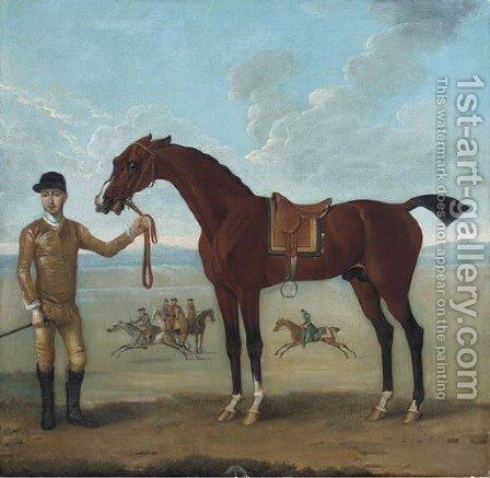 The Duke of Devonshire's Flying Childers held by a jockey by James Seymour - Reproduction Oil Painting