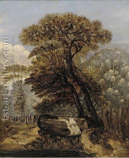 A wooded landscape by James Sillett - Reproduction Oil Painting