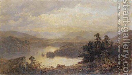 Lake Placid and the Adirondack Mountains from Whiteface 2 by James David Smillie - Reproduction Oil Painting