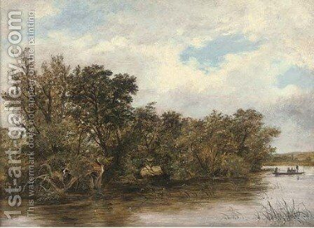 Magpie Island, Henley on Thames by James Stark - Reproduction Oil Painting