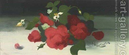 Red roses by James Stuart Park - Reproduction Oil Painting