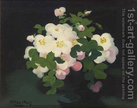 Wild roses by James Stuart Park - Reproduction Oil Painting
